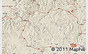 Shaded Relief Map of Mudanjiang