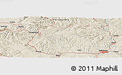 Shaded Relief Panoramic Map of Mudanjiang