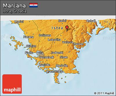 Political 3D Map of Marčana