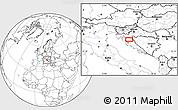Blank Location Map of Aleksinica