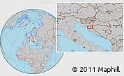 Gray Location Map of Aleksinica