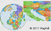 Political Location Map of Aleksinica