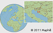 Savanna Style Location Map of Aleksinica