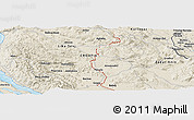 Shaded Relief Panoramic Map of Antinovica