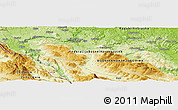 Physical Panoramic Map of Marin Most