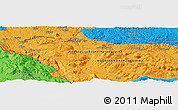 Political Panoramic Map of Marin Most