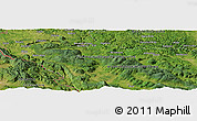 Satellite Panoramic Map of Marin Most