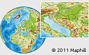 Physical Location Map of Maglaj