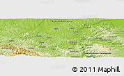 """Physical Panoramic Map of the area around 44°44'51""""N,17°55'29""""E"""