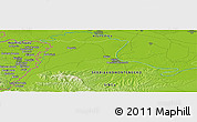 "Physical Panoramic Map of the area around 44° 44' 51"" N, 19° 37' 30"" E"