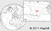 """Blank Location Map of the area around 44°44'51""""N,1°46'29""""E"""