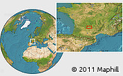 """Satellite Location Map of the area around 44°44'51""""N,1°46'29""""E"""
