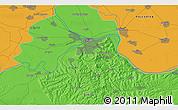 Political 3D Map of Zvečka