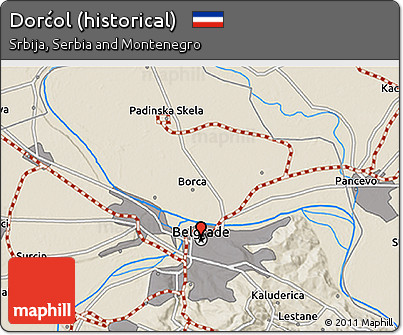 Free Shaded Relief 3d Map Of Dorcol Historical