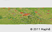 Satellite Panoramic Map of Dobanovci