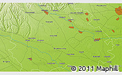 """Physical 3D Map of the area around 44°44'51""""N,25°34'30""""E"""