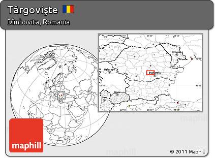 Map of Târgovişte, Romania