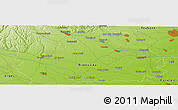 """Physical Panoramic Map of the area around 44°44'51""""N,25°34'30""""E"""