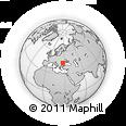 Outline Map of Slobozia, rectangular outline