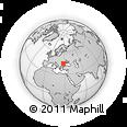 Outline Map of Gura Călmățui, rectangular outline