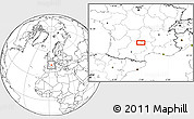 """Blank Location Map of the area around 44°44'51""""N,2°37'30""""E"""