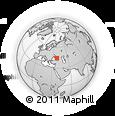 Outline Map of Gelendzhik, rectangular outline