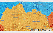 """Political 3D Map of the area around 44°44'51""""N,3°28'30""""E"""