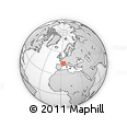 """Outline Map of the Area around 44° 44' 51"""" N, 3° 28' 30"""" E, rectangular outline"""