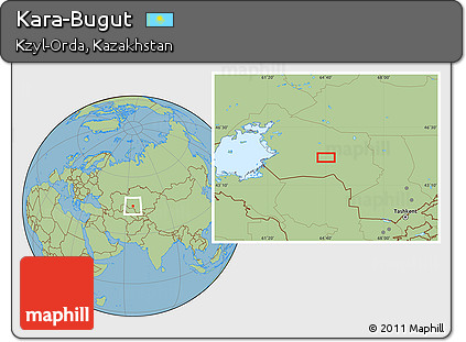 Free Savanna Style Location Map of Kara-Bugut