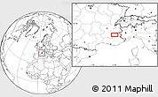 Blank Location Map of Gap