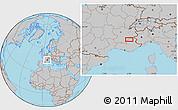 Gray Location Map of Gap