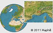 Satellite Location Map of Gap