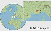 Savanna Style Location Map of Gap