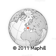 Outline Map of Gap, rectangular outline