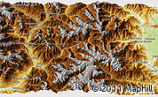 """Physical 3D Map of the area around 44°44'51""""N,6°52'30""""E"""