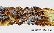 """Physical Panoramic Map of the area around 44°44'51""""N,6°52'30""""E"""