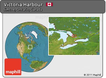 Free Satellite Location Map of Victoria Harbour