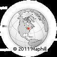 Outline Map of Muskoka, rectangular outline