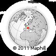 Outline Map of Dogliani, rectangular outline