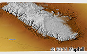 """Physical 3D Map of the area around 44°44'51""""N,95°16'30""""E"""