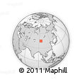 """Outline Map of the Area around 44° 44' 51"""" N, 95° 16' 30"""" E, rectangular outline"""