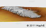 """Physical Panoramic Map of the area around 44°44'51""""N,95°16'30""""E"""