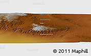 "Physical Panoramic Map of the area around 44° 44' 51"" N, 98° 40' 30"" E"