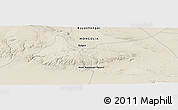Shaded Relief Panoramic Map of Bulgan