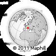 Outline Map of Cagregorio, rectangular outline