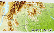 """Physical 3D Map of the area around 44°2'4""""S,170°55'30""""E"""