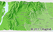 """Political 3D Map of the area around 44°2'4""""S,170°55'30""""E"""
