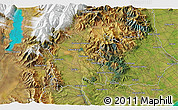 """Satellite 3D Map of the area around 44°2'4""""S,170°55'30""""E"""