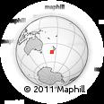 Outline Map of Arundel, rectangular outline