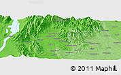 """Political Panoramic Map of the area around 44°2'4""""S,170°55'30""""E"""
